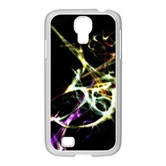 Futuristic Abstract Dance Shapes Artwork Samsung GALAXY S4 I9500/ I9505 Case (White)
