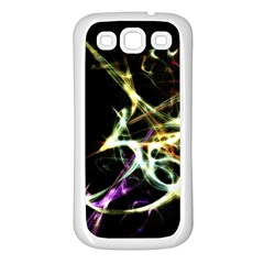 Futuristic Abstract Dance Shapes Artwork Samsung Galaxy S3 Back Case (white)
