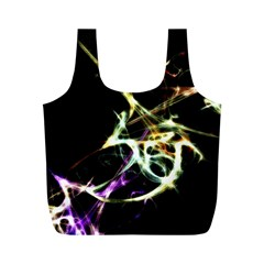Futuristic Abstract Dance Shapes Artwork Reusable Bag (m)
