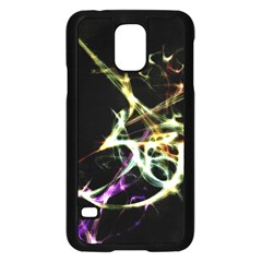 Futuristic Abstract Dance Shapes Artwork Samsung Galaxy S5 Case (Black)