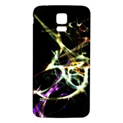 Futuristic Abstract Dance Shapes Artwork Samsung Galaxy S5 Back Case (White)