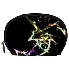 Futuristic Abstract Dance Shapes Artwork Accessory Pouch (large)