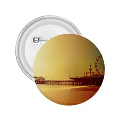 Santa Monica Pier Orange Sunrise 2 25  Button