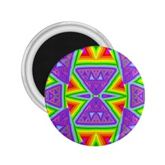 Trippy Rainbow Triangles 2.25  Button Magnet
