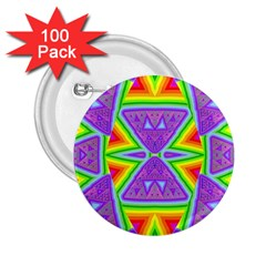 Trippy Rainbow Triangles 2 25  Button (100 Pack)
