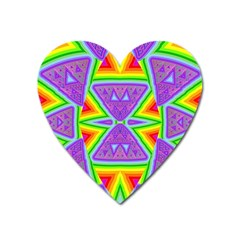 Trippy Rainbow Triangles Magnet (Heart)