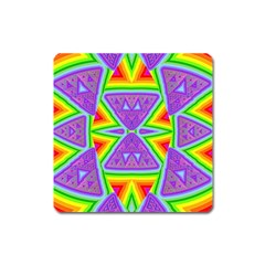 Trippy Rainbow Triangles Magnet (square)