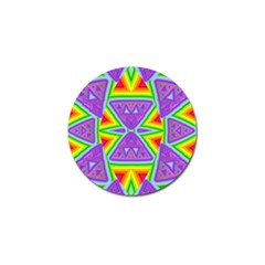 Trippy Rainbow Triangles Golf Ball Marker