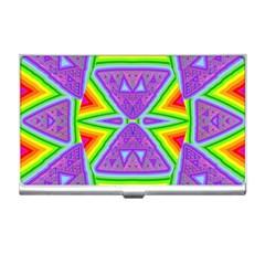 Trippy Rainbow Triangles Business Card Holder