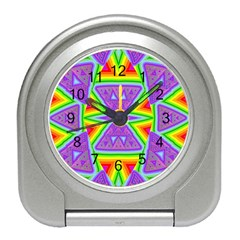 Trippy Rainbow Triangles Desk Alarm Clock
