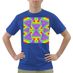 Trippy Rainbow Triangles Men s T-shirt (Colored)