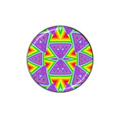 Trippy Rainbow Triangles Golf Ball Marker 4 Pack (for Hat Clip)