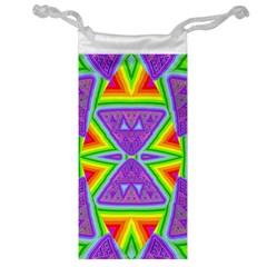Trippy Rainbow Triangles Jewelry Bag