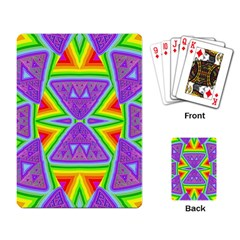 Trippy Rainbow Triangles Playing Cards Single Design