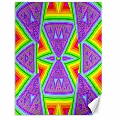 Trippy Rainbow Triangles Canvas 12  X 16  (unframed)
