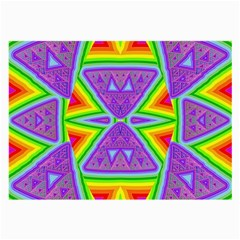 Trippy Rainbow Triangles Glasses Cloth (Large, Two Sided)