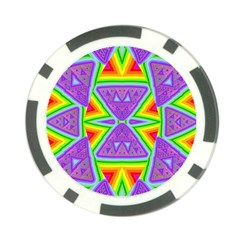 Trippy Rainbow Triangles Poker Chip (10 Pack)