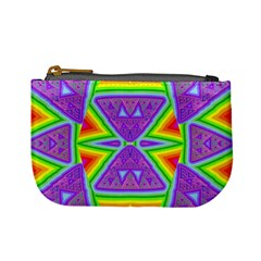 Trippy Rainbow Triangles Coin Change Purse