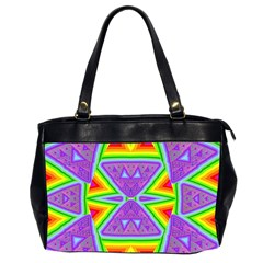 Trippy Rainbow Triangles Oversize Office Handbag (Two Sides)
