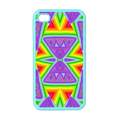 Trippy Rainbow Triangles Apple Iphone 4 Case (color)