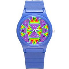 Trippy Rainbow Triangles Plastic Sport Watch (Small)