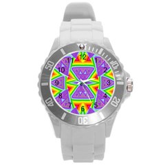 Trippy Rainbow Triangles Plastic Sport Watch (Large)