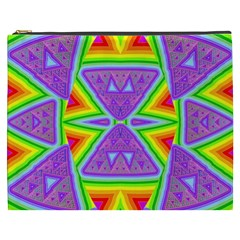 Trippy Rainbow Triangles Cosmetic Bag (XXXL)
