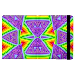 Trippy Rainbow Triangles Apple iPad 3/4 Flip Case