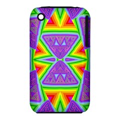 Trippy Rainbow Triangles Apple iPhone 3G/3GS Hardshell Case (PC+Silicone)