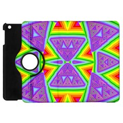 Trippy Rainbow Triangles Apple Ipad Mini Flip 360 Case