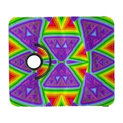 Trippy Rainbow Triangles Samsung Galaxy S  III Flip 360 Case