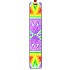 Trippy Rainbow Triangles Large Bookmark