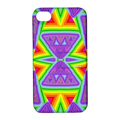 Trippy Rainbow Triangles Apple Iphone 4/4s Hardshell Case With Stand