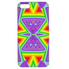 Trippy Rainbow Triangles Apple Iphone 5 Hardshell Case With Stand