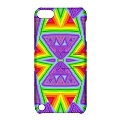 Trippy Rainbow Triangles Apple Ipod Touch 5 Hardshell Case With Stand
