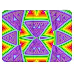 Trippy Rainbow Triangles Samsung Galaxy Tab 7  P1000 Flip Case