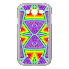 Trippy Rainbow Triangles Samsung Galaxy Grand DUOS I9082 Case (White)