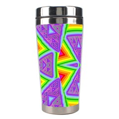 Trippy Rainbow Triangles Stainless Steel Travel Tumbler