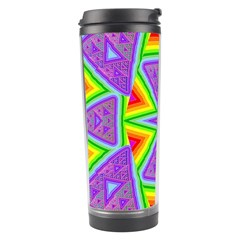 Trippy Rainbow Triangles Travel Tumbler