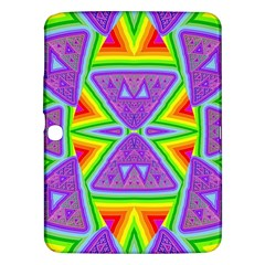 Trippy Rainbow Triangles Samsung Galaxy Tab 3 (10.1 ) P5200 Hardshell Case