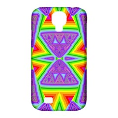 Trippy Rainbow Triangles Samsung Galaxy S4 Classic Hardshell Case (pc+silicone)