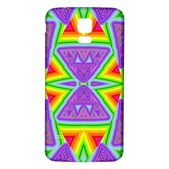 Trippy Rainbow Triangles Samsung Galaxy S5 Back Case (White)