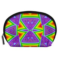 Trippy Rainbow Triangles Accessory Pouch (Large)