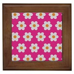 Daisies Framed Ceramic Tile