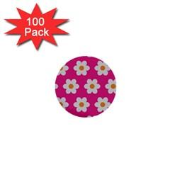Daisies 1  Mini Button (100 Pack)