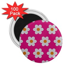 Daisies 2.25  Button Magnet (100 pack)