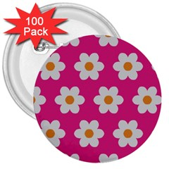 Daisies 3  Button (100 pack)