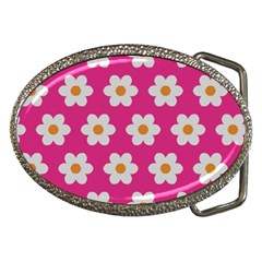 Daisies Belt Buckle (Oval)