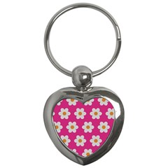 Daisies Key Chain (heart)