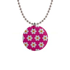 Daisies Button Necklace